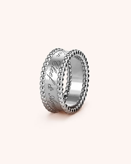 Perlée Signature Ring in 18k White Gold
