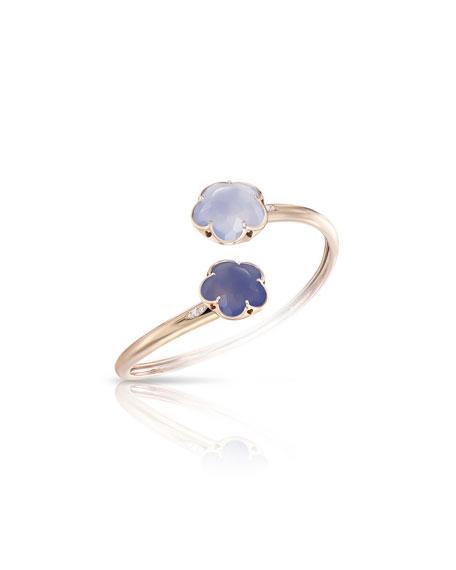 Pasquale Bruni Bon Ton Chalcedony Flower Bracelet with Diamonds in 18K Rose Gold