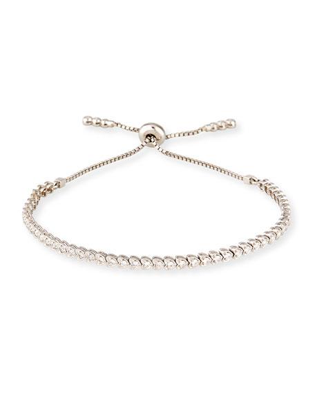 18K White Gold Diamond Heart Bracelet