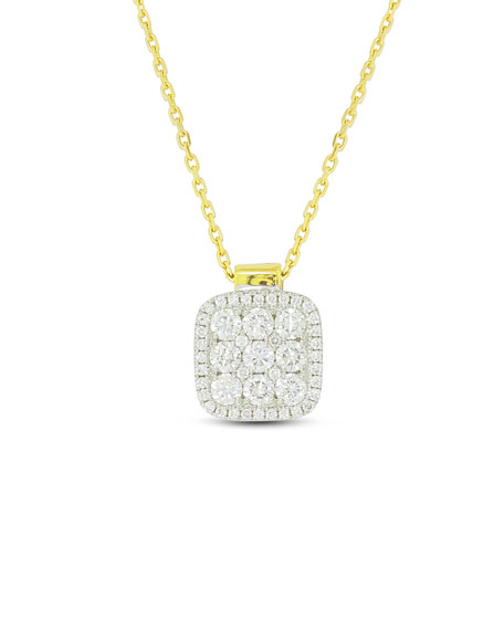 Firenze Diamond Pendant Necklace in 18K Gold