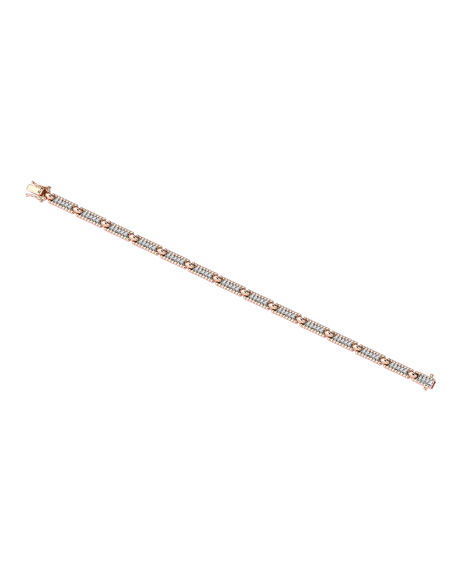 Kismet by Milka Beads 14k White Diamond One-Row Bracelet