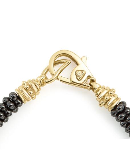 LAGOS Black Caviar & 18K Gold Rope Bracelet