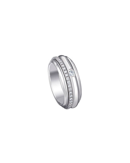 Piaget POSSESSION 18K WHITE GOLD TURNING RING WITH DIAMONDS