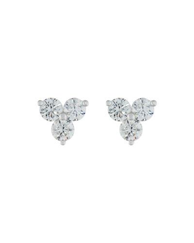 Round Diamond Trio Earrings