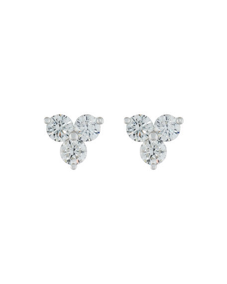 Memoire for Forevermark Round Diamond Trio Earrings