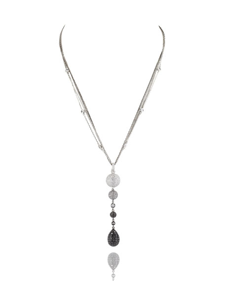 Mariani Black & White Diamond Teardrop Pendant Necklace