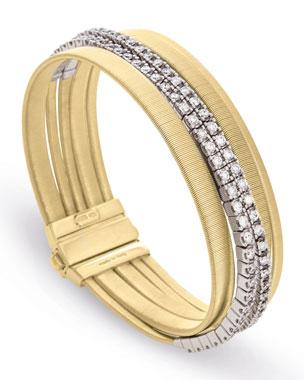 059fba6a2852 Marco Bicego Masai Five-Strand Crossover Bracelet with Diamonds