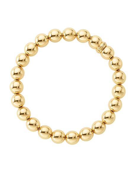 LAGOS 8mm Medium Caviar 18K Ball Stretch Bracelet
