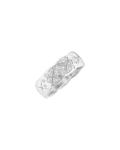 COCO CRUSH RING IN 18K WHITE GOLD & DIAMONDS, SMALL VERSION