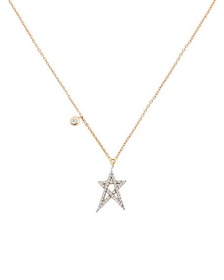 Kismet by Milka Struck Star 14k Doodle Pendant Necklace