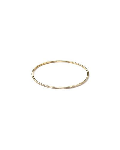 18k Gold Stardust Diamond Bangle Bracelet