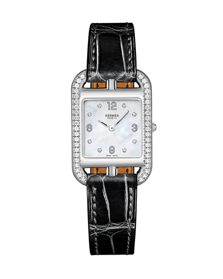 Cape Cod Diamond Watch, Stainless Steel & Alligator Strap