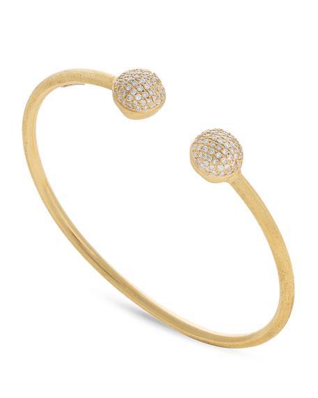 18k Gold Africa Diamond Pavé Bangle Bracelet