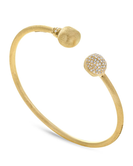 18k Gold Africa Diamond Bangle Bracelet
