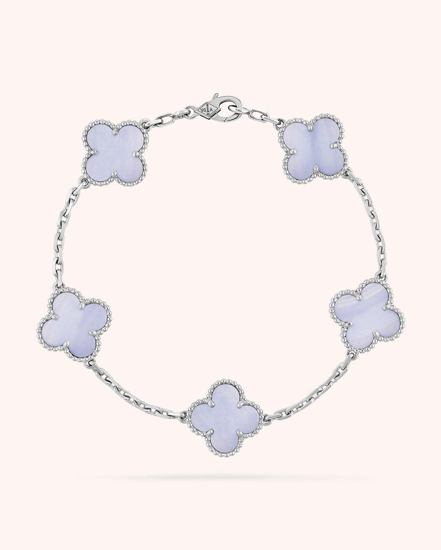 Van Cleef Arpels Vintage Alhambra Bracelet 5 Motifs Neiman Marcus