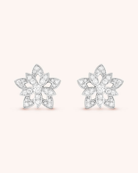 Lotus Openwork Earrings, Mini