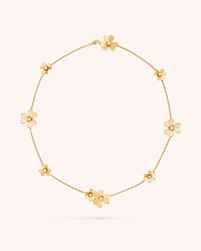 Frivole Necklace, 9 Flowers