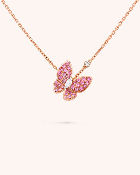 Van Cleef & Arpels Two Butterfly Pendant
