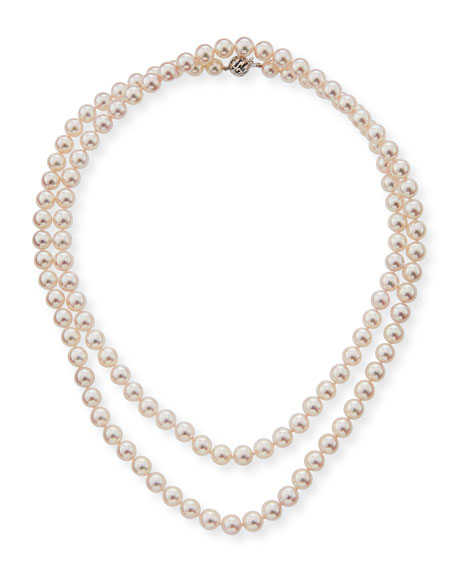 Belpearl 18k Single-Strand Akoya Pearl Necklace, 7.5mm