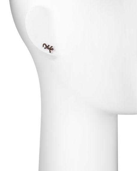 Stevie Wren 14k Multi-Pink Diamond Salamander Single Stud Earring