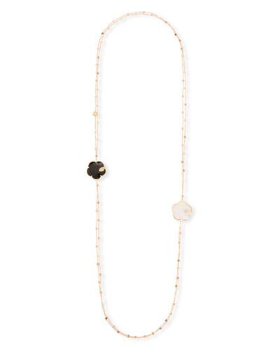 Ton Joli 18k Black & White Necklace w/ Diamonds, 40