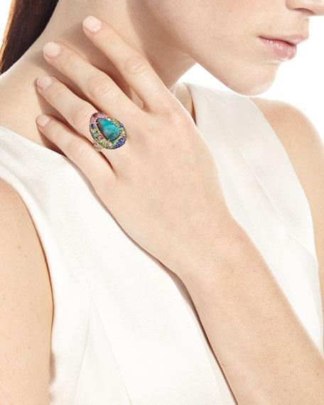 Margot McKinney Jewelry 18k Yellow Gold Opal & Multi-Stone Ring with Cabochons, Size 6.5