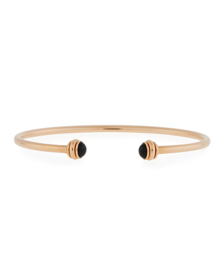 PIAGET 18k Rose Gold Possession Open Bangle with Black Onyx