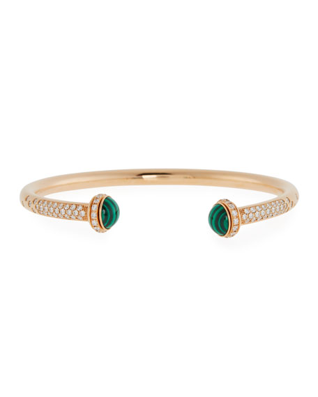 Image 1 of 3: PIAGET 18k Diamond & Malachite Bangle