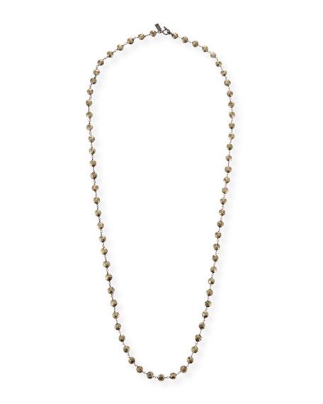 Margo Morrison Long Pyrite & Chain Necklace