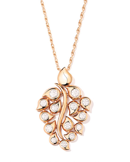Image 1 of 4: Snowflakes Diamond Pendant in 18k Rose Gold