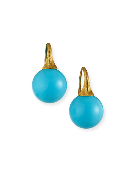 Image 1 of 2: Marco Bicego Africa 18k Turquoise Drop Earrings