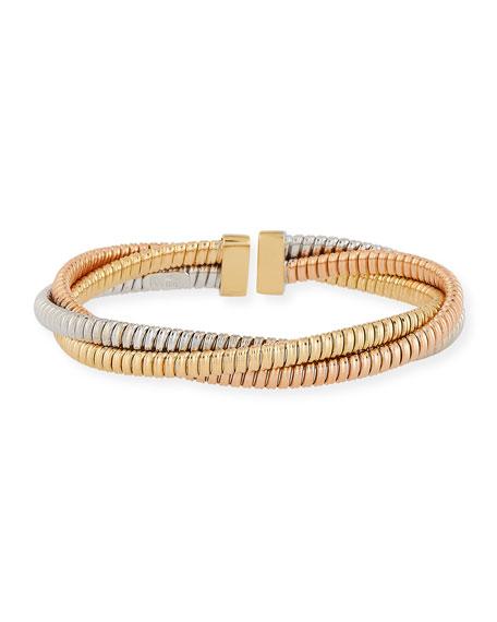 Alberto Milani 18k Tricolor Gold Crossover Bracelet