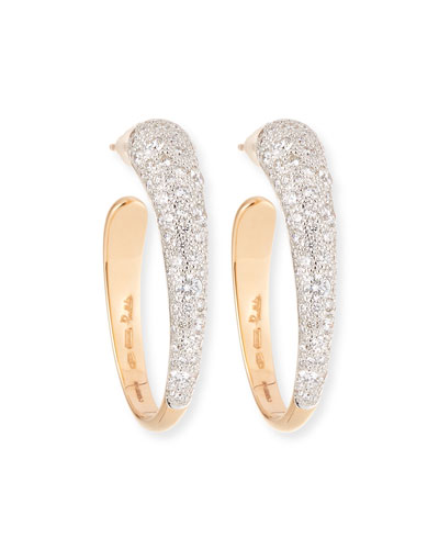 Tango 18K Gold Hoop Earrings with Diamonds