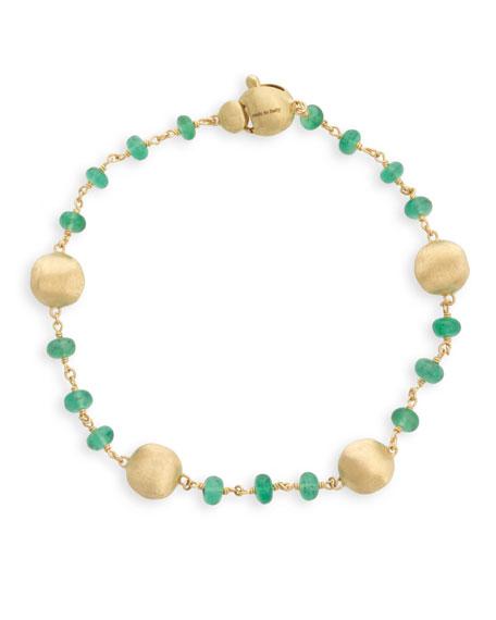 Marco Bicego 18k Gold Africa Emerald Bracelet