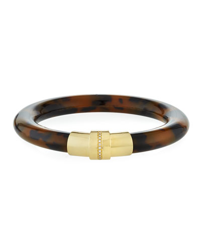 Limited Edition 18k Animal-Print Bangle w/ Diamonds