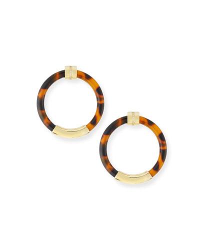 Limited Edition 18k Animal-Print Hoop Earrings w/ Diamonds
