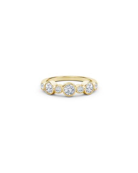 Forevermark Tribute 18k Gold 7-Diamond Bezel Ring, Size 6.5