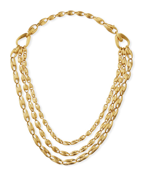 Marco Bicego 18K Gold Lucia Triple-Strand Necklace