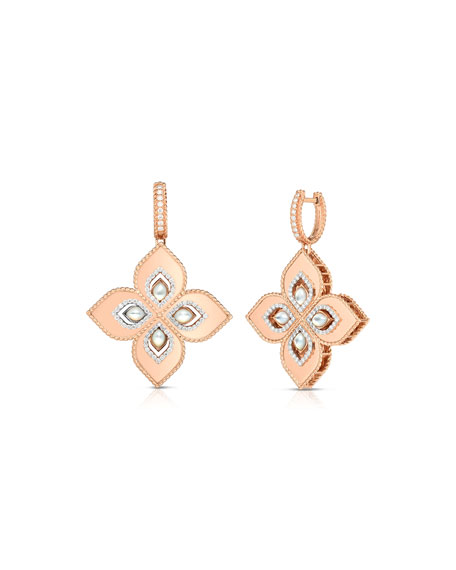 Roberto Coin Venetian Princess 18k Rose Gold Mother-of-Pearl Drop Earrings