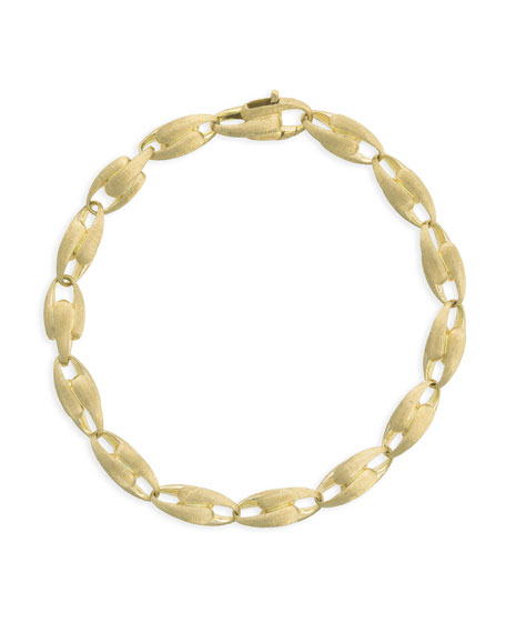 "Marco Bicego Lucia 18k Graduated Chain-Link Bracelet, 7""L"