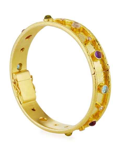 Elizabeth Locke Tutti Frutti 19k Bangle Bracelet