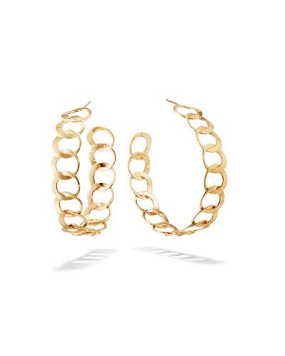 14k Gold Bond Link Hoop Earrings