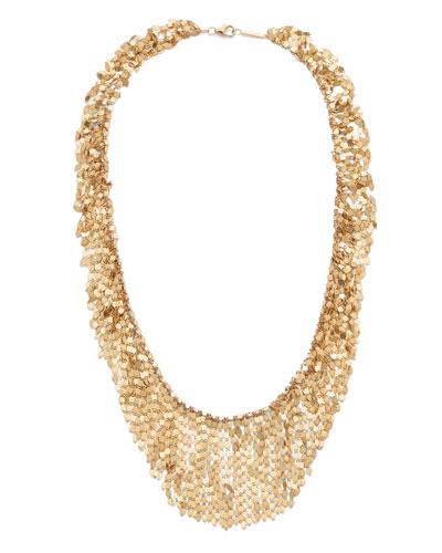 14k Gold Fringe Choker Necklace  15L