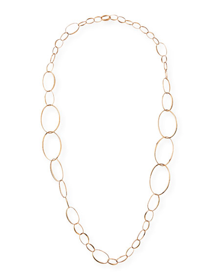 Image 1 of 3: Pomellato 18k Rose Gold Graduated Link Necklace, 43""