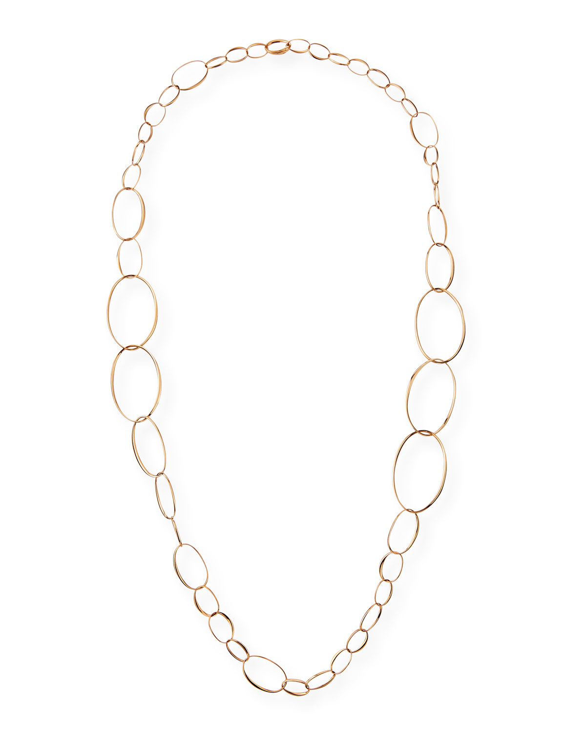 Pomellato 18k Rose Gold Graduated Link Necklace, 43""