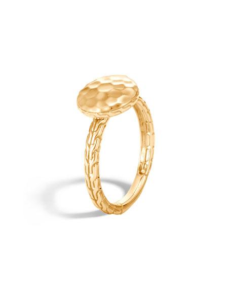 John Hardy 18k Hammered Ring, Size 7