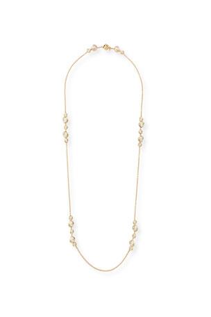 "Marina B Cardan 18k Yellow Gold White Agate Necklace, 40""L"