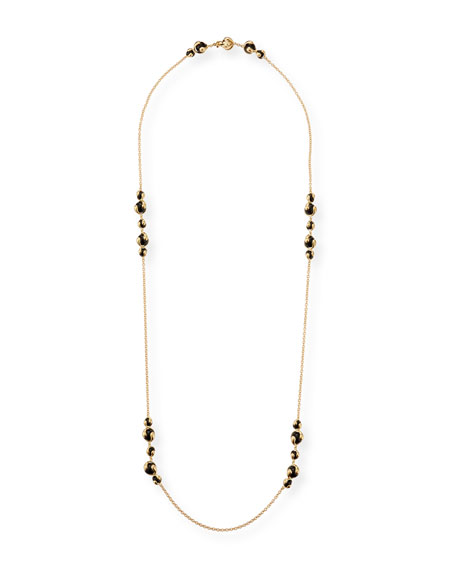 "Marina B Cardan 18k Yellow Gold Black Onyx Necklace, 40""L"