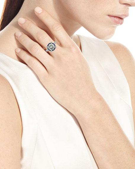 N-M Jewelry Shop Platinum Diamond & Sapphire Ring