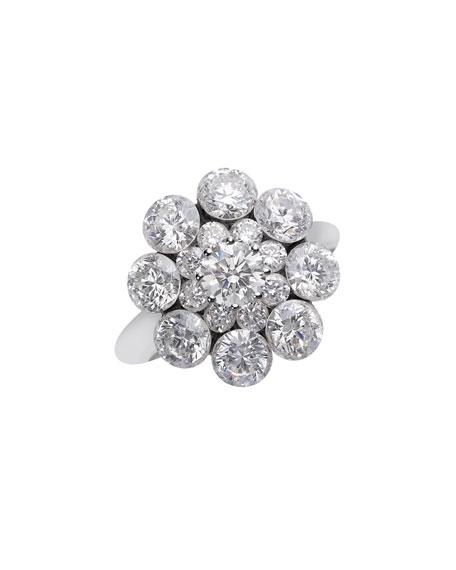 Chopard 18k White Gold Diamond Magical Setting Ring, Size 52
